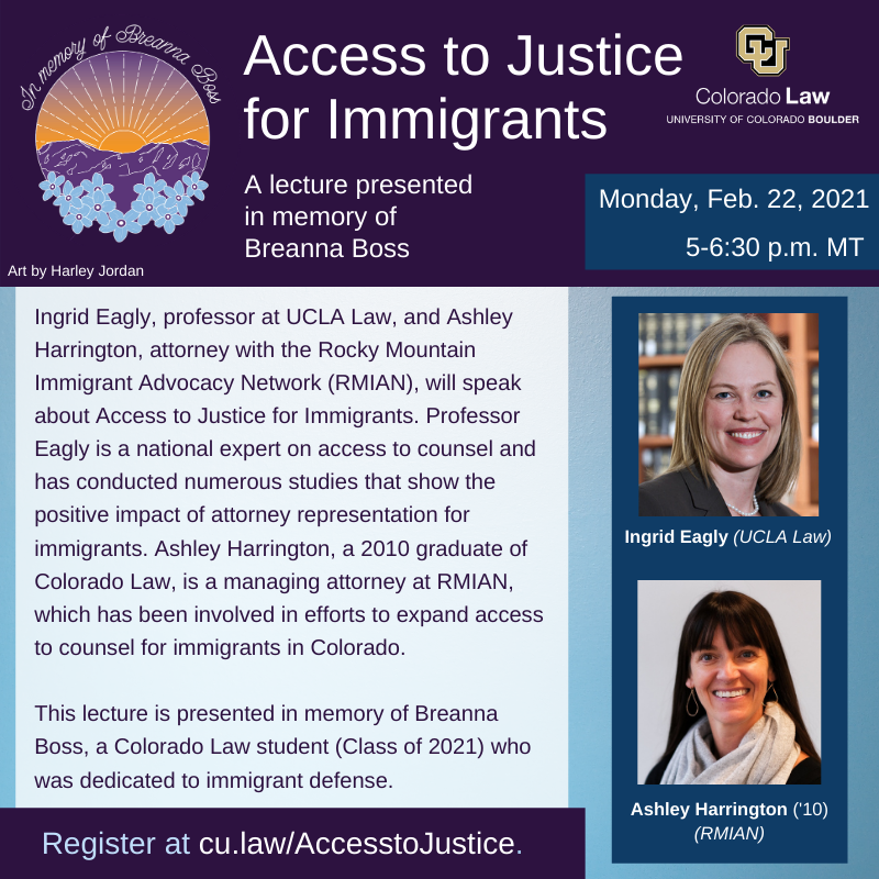 Access to Justice for Immigrants - Boss flyer 2-22-2021