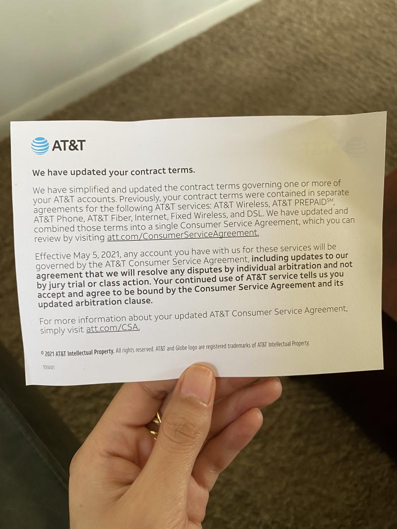 AT&T Notice