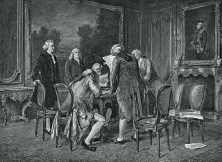 Preliminary-Treaty-of-Peace-painting-Paris-Benjamin-November-30-1782
