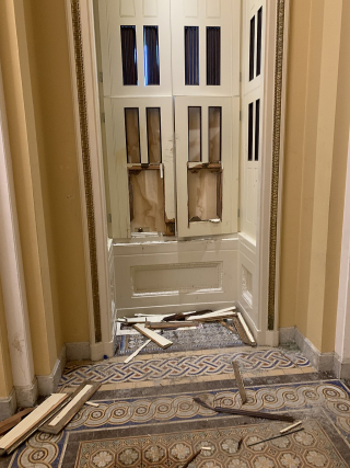 Interior_damage_after_2021_storming_of_the_United_States_Capitol_by_Bill_Cassidy_01