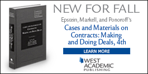 Epstein Cases and Materials on Contracts: Making and Doing Deals, 4th